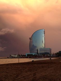 W Barcelona, popularly known as the Hotel Vela (Sail Hotel) due to its shape ~ Barcelona, Catalonia, Spain