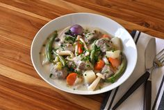 A classic that is easy to master, Blanquette de Veau is French comfort food at its finest. Veal Recipes, Pork Chop Recipes, Tasty Lasagna, Osso Buco Recipe, Veal Stew, Chorizo And Potato, Perfect Roast Chicken, Recipe D, Italian Dishes