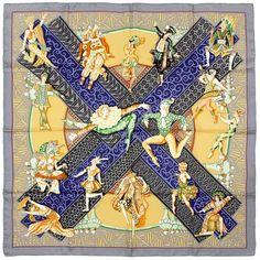 RARE Auth Hermes Paris LES BALLETS RUSSES Vintage Silk Scarf ANNIE FAIVRE 90cm #Hermes #ShawlWrap