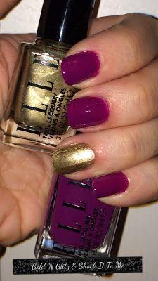 ELLE nail polish in Gold N Glitz & Shock It To Me #kohlsbeauty