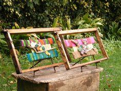 Imagen Textiles, Outdoor Furniture Sets, Outdoor Decor, Porch Swing, Applique, Weaving, How To Make, Home Decor, Crochet