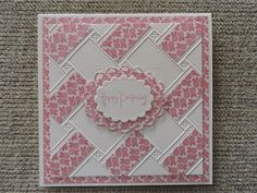 Fun doing this with Anna Griffin embossing folder