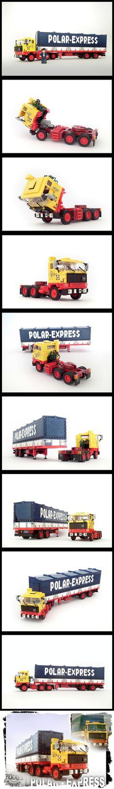 Volvo F89 + Polar-Express trailer #LEGO #Volvo