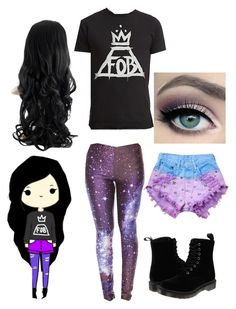 """""""✨""""Chibis"""" In Real Life #4✨"""" by ashleyneedstoshutup on Polyvore featuring Runwaydreamz and Dr. Martens"""