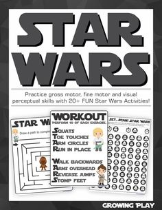 Star Wars Sensory Motor Packet - Fine Motor, Gross Motor and Visual Perceptual - Your Therapy Source Sensory Activities Toddlers, Motor Activities, Therapy Activities, Toddler Preschool, Therapy Ideas, Sensory Motor, Pediatric Occupational Therapy, Gross Motor Skills, Parents As Teachers