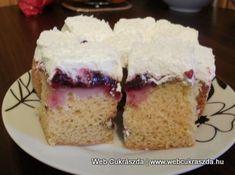 Gesztenyés tejszínes kocka (sütés nélkül) Vanilla Cake, Food, Eten, Meals, Diet