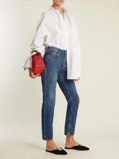 Blå Konst Log low-rise straight-leg jeans | Acne Studios