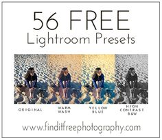 A whole set for FREE! All! This will be all the Lightroom Presets I need! Yay! Follow my Photography FREEBIE board at www.pinterest.com/jilllevenhagen