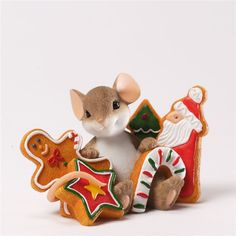 Mouse with Christmas Cookies - Charming Tails Figurine, 4034348 ...