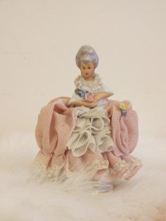 Valentine's Day Vintage Dresden Antique Lace Doll by ASmallFortune, $250.00