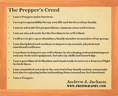 The Prepper's Creed