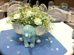Ideas for baby shower ideas for girls centros de mesa elephant theme - Elephant baby shower theme - Baby Marcos Para Baby Shower, Mesas Para Baby Shower, Baby Shower Niño, Baby Girl Shower Themes, Baby Shower Parties, Elephant Baby Shower Centerpieces, Baby Shower Decorations For Boys, Elephant Decorations, Elephant Theme