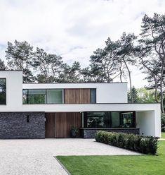 Home Decorating Websites Stores Minimalist Architecture, Modern Architecture House, Architecture Design, Modern House Facades, Modern House Design, Modern Exterior, Exterior Design, Villa Design, Building Design
