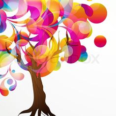 Stock vector of 'Abstract tree background'