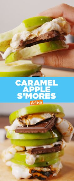 When you need it to be fall ASAP but still can't let go of summer, make Caramel Apple S'mores. Get the recipe at Delish.com.