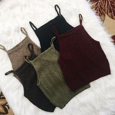 Women Sexy Sleeveless Knit Crop Tops #camisole #corset-top #crop-top