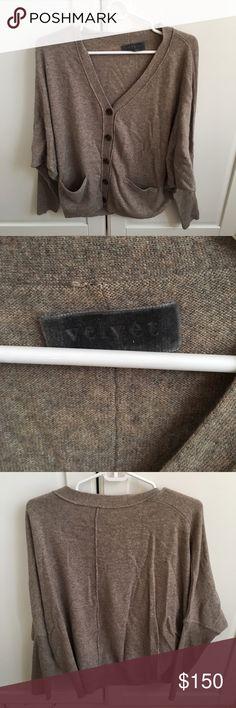 VELVET light brown sweater. 100% cashmere. Small Super soft 100% cashmere sweater. Great condition! Velvet Sweaters