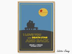 Star Wars Wedding Gift Death Star Love Quote Star Wars Funny Print Star Wars Quotes Instant Download Star Wars Poster Printable Art