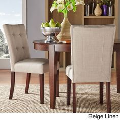 Tribecca Home Hutton Upholstered Dining Chairs