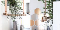 DIY: un perchero hecho con tronco de madera y tiras de cuero