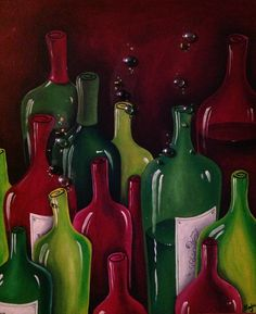 9 Green Bottles 2012 Acrylic on Canvas 80 cm x 100 cm