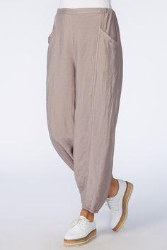 Sahara Shimmer Linen Bubble Trouser - All About Trousers Women, Pants For Women, Clothes For Women, Fashion Pants, Fashion Dresses, Linen Shop, Romantic Outfit, Linen Pants, Trouser Pants