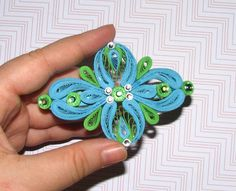 QuillingLife on Etsy Quilling Barrette Hair jewelry Hair accessories by QuillingLife