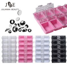 12 Grids Empty Rhinestone Storage Case Crystal Beads Jewelry Box For Decoration Container Nail Art Accessory Case Wholesale #Affiliate