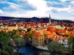 Cesky Krumlov in the Czech Republic...medieval town with amazing architecture - can't wait to go!