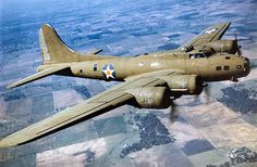 Color Photographed B-17E in Flight. The B-17 was primarily employed by theUnited States Army Air Forces (USAAF) in the daylight precision strategic bombing campaign of World War II against German industrial and military targets. The United States Eighth Air Force, based at many airfields in southern England, and theFifteenth Air Force, based in Italy, complemented the RAF Bomber Command's nighttime area bombing in the Combined Bomber Offensive to help secure air superiority over the cities…