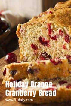 Cranberry Bread is a delicious, buttery, seasonal bread filled with fresh cranberries, orange zest, and juice. Perfect for gatherings or to gift. Cranberry Quick Bread, Cranberry Orange Bread, Cranberry Recipes, Orange Zest, Burnt Food, Bread Ingredients, Air Fryer Recipes Easy, Brunch Recipes, Dessert Recipes