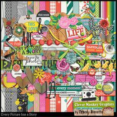 Every Picture Has a Story by Clever Monkey Graphics - Digital scrapbooking kits available through Oscraps, GingerScraps, or MyMemories