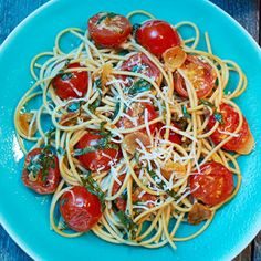 Cancer Fighting Recipes: Spaghetti with Cherry Tomatoes and Toasted