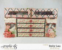 Mon Amour Mini Dresser - Graphic 45 - Mon Amour - Belly Lau - Papercraft Buffet - Tutorial