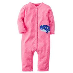 Carters Baby Girls Cotton SnapUp Footless Sleep  Play 9 Months Whale