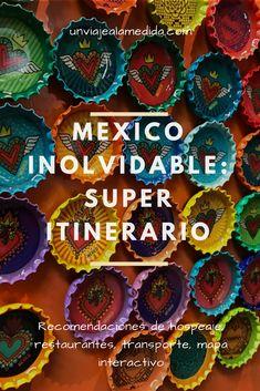 Itinerariio para Ciudad de México #mexico #df #itinerario #viajes #viajar