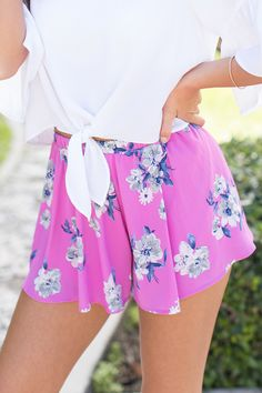 6cd1dff63b9f Peaceful Days Floral Shorts Purple CLEARANCE. Miami SunsetPink LilyFloral  ...