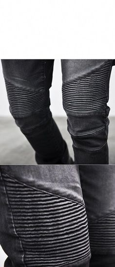 d92b34bce03e Bottoms    Jeans    Washed Black Designer Skinny Biker-Jeans 84 - Mens  Fashion Clothing For An Attractive Guy Look