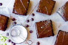 Chocolate Zucchini Cake - King Arthur Flour recipe - Deep-dark, moist, intensely flavorful chocolate cake — made with zucchini! Cake Recipes, Dessert Recipes, Flour Recipes, Buttermilk Recipes, Pasta Recipes, Sweet Recipes, Baking Recipes, Delicious Desserts, Zucchini Cake