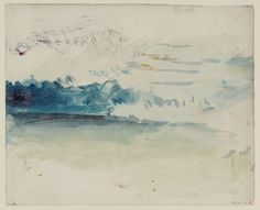 j.m.w. turner - watercolour on paper - a stormy sky (1840-45?)