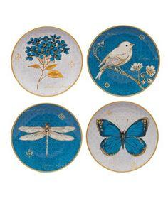 Another great find on #zulily! Exotic Garden Dessert Plate - Set of Four by Certified International #zulilyfinds