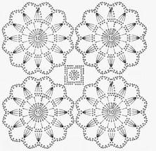 "Photo from album ""Покрывала"" on Yandex. Crochet Motif Patterns, Crochet Diagram, Crochet Designs, Crochet Curtains, Crochet Tablecloth, Crochet Art, Crochet Circles, Crochet Squares, Embroidery"
