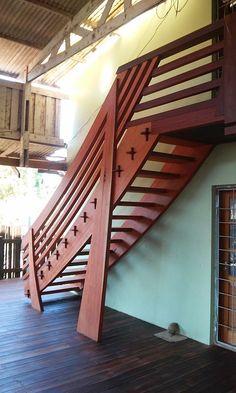 Back side detail -- Rainforest inspired organic design stairs. Located at our facility in Santarem Para, Brazil. Hardwood Lumber, Hardwood Floors, Flooring, Brazilian Hardwood, Wood Stairs, Wood Slab, Organic, Detail, Inspired