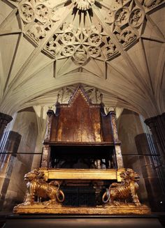 Coronation Chair, Westminster Abbey  Since 1308, when it was commissioned by King Edward I, all but two monarchs have been crowned in the chair.