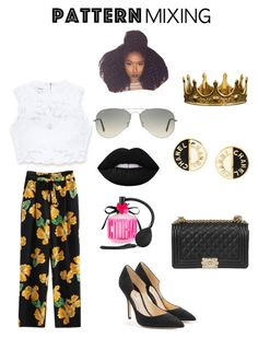 """Some different "" by qveennnnnn on Polyvore featuring Bebe, Paul Andrew, New Arrivals, Chanel, Seletti, Victoria's Secret, Lime Crime, Ray-Ban and patternmixing"