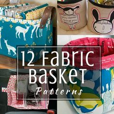 Grab one of these free fabric basket patterns and organize your space today. 12 patterns to keep things in place and ready for you to sew.