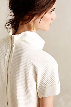 Striped Funnelneck Tee - anthropologie.com
