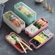 Kids Lunchbox W couverts Sandwich Boîte école Maternelle Voyage Garçons Filles 3+y