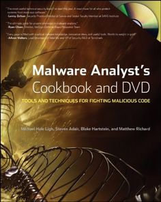 21 best security books images on pinterest computer engineering malware analysts cookbook and dvd tools and techniques for fighting malicious code by michael ligh fandeluxe Image collections