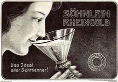 Original-Werbung/ Anzeige 1907 - SÖHNLEIN RHEINGOLD SEKT - Ca. 180 X 135 Mm - Werbung